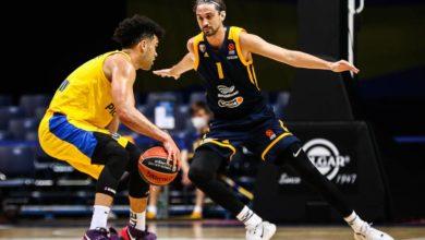 Photo of «Химки» потерпели пятое поражение подряд в баскетбольной Евролиге, уступив «Маккаби»