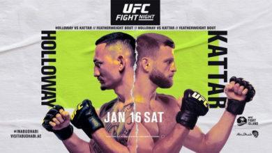 Photo of Прямая трансляция UFC on ABC 1: Холловэй vs Каттар