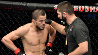 Photo of Реакция Хабиба на успешный дебют брата в UFC