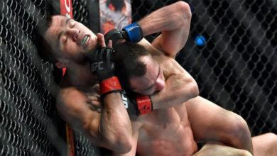Photo of Умар Нурмагомедов досрочно победил Сергея Морозова на UFC on ESPN 20 в Абу-Даби